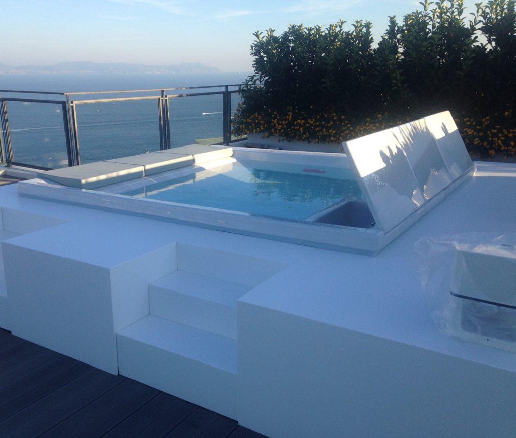 piscina automatizzata terrazzo